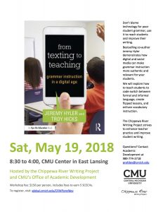 Hyler - CRWP Texting to Teaching Presentation - May 2018