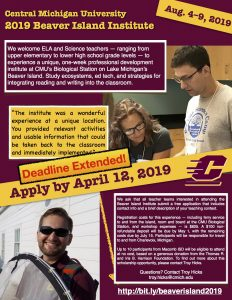 Beaver Island Institute Flyer Aug 2019 - April 12 Deadline