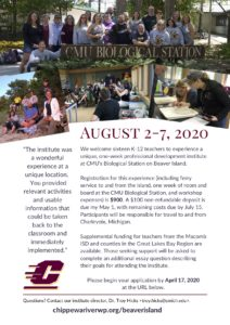 Beaver Island 2020 Flyer (Link to PDF)
