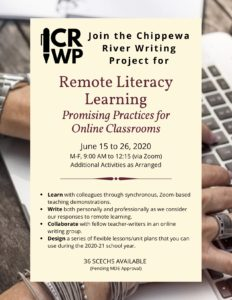 CRWP Open Institute 2020 - Remote Literacy Learning - Cover Image