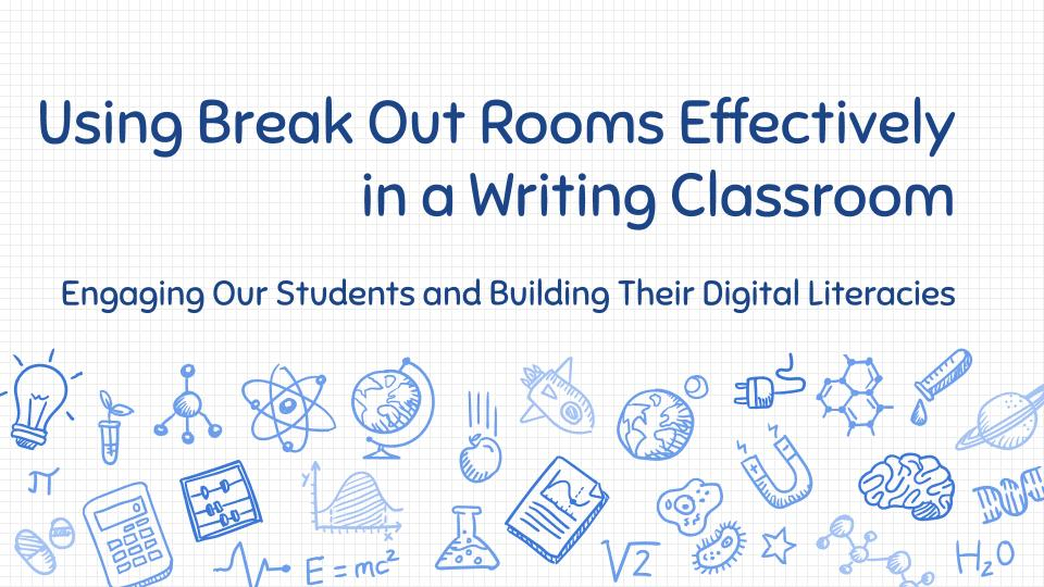 Using Break Out Rooms Cover Slide
